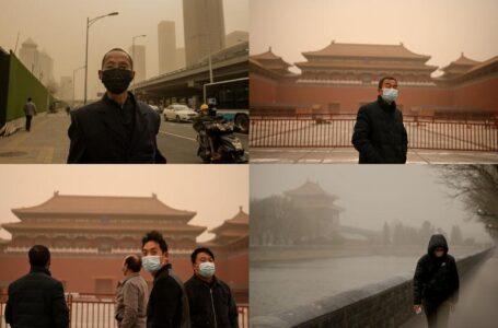 Las fotos de la impresionante tormenta de arena que azota a Pekín