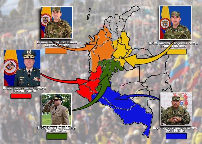 Los cinco generales empoderados por Duque para enfrentar el Paro y los bloqueos