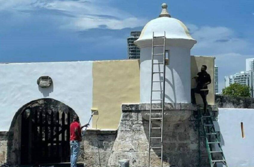 Polémica: pintaron parte de una muralla en Cartagena sin autorización